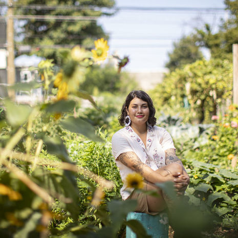 Cesali Morales, business manager at Norris Square Neighborhood Project, at Las Parcelas