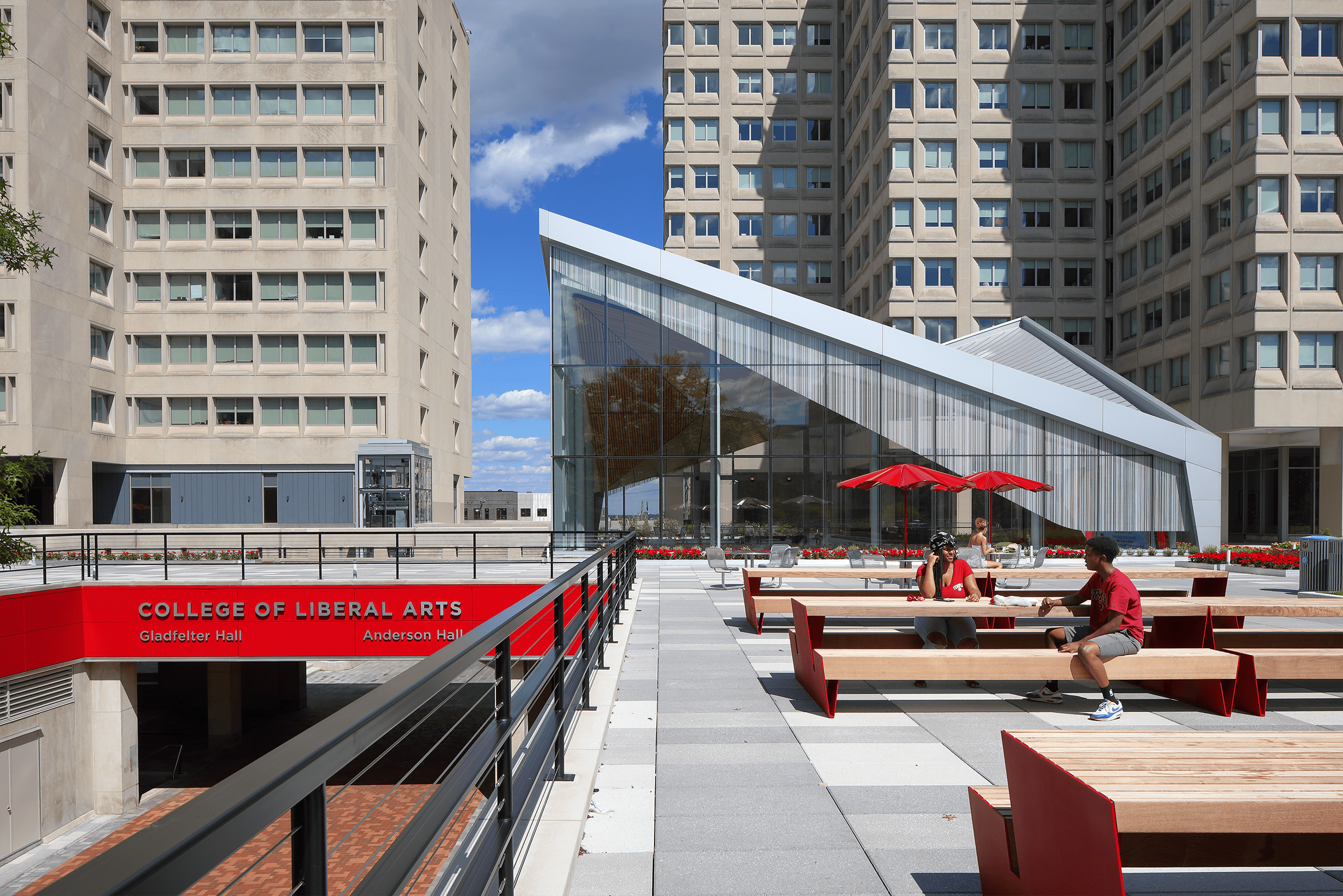 photo of Anderson Hall exterior atrium