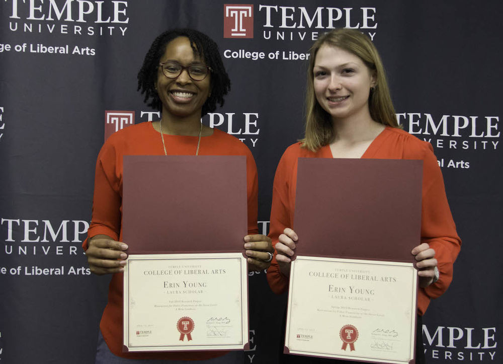 image of Ajima and Erica at 2019 baccalaureate ceremony