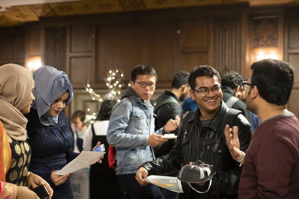 image of international students gathering