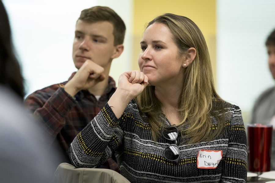 image of Erin Dwyer in a public policy class