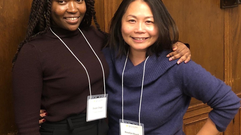 Diane Chogo and Dr. Hsueh